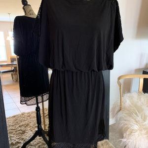 Sangria Black Mini Dress, Size 12